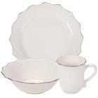 10 Strawberry Street Oxford Cream Stoneware Dinnerware