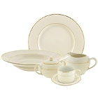 10 Strawberry Street Cream Double Gold Porcelain Dinnerware