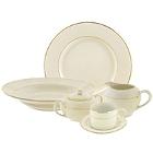 10 Strawberry Street Cream Double Gold Porcelain Dinnerware