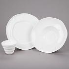 10 Strawberry Street Izabel Lam Ripples Bright White Porcelain Dinnerware