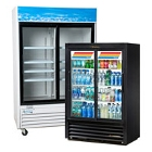 2 Section Glass Door Merchandising Refrigerators