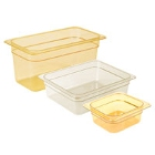 Amber High Temperature Plastic Food Pans & Lids