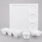 CAC Citysquare Super White Porcelain Dinnerware