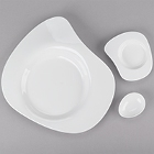 Cardinal Divinity White Porcelain Dinnerware