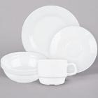 Cardinal Intensity White Porcelain Dinnerware