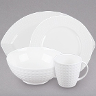 Cardinal Satinique White Porcelain Dinnerware