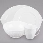 Cardinal Satinique White Porcelain Dinnerware