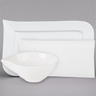 Cardinal Variations White Porcelain Dinnerware