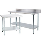 Commercial Work Tables with Undershelf - 18 Gauge Economy Top