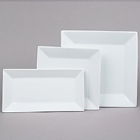 Core Bright White Square and Rectangular China Dinnerware