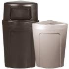 Corner Trash Cans