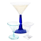 Disposable Plastic Martini Glasses