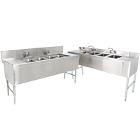 4 Bowl Underbar Sinks