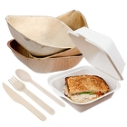 Green, Biodegradable Dinnerware and Renewable Wood Flatware