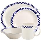Homer Laughlin Cobalt Checkers China Dinnerware