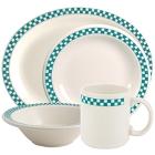Homer Laughlin Turquoise Checkers China Dinnerware