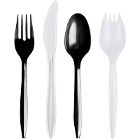 Medium Weight Plastic Flatware