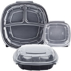 Plastic Microwaveable Hinged Take-Out Containers
