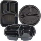 Plastic Microwaveable Three Compartment Take-Out Containers