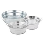 Plated / Galvanized Metal Serving and Display Bowls