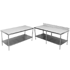 Poly Top Work Tables with Undershelf