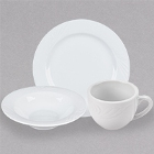 Roosevelt Super White Wide Rim China Dinnerware