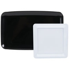 Square and Rectangular Plastic Deli / Catering Trays and Accessories