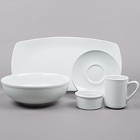 Tuxton DuraTux Bright White China Dinnerware