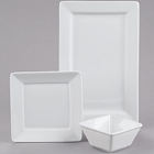 Tuxton TuxTrendz Santorini Bright White China Dinnerware