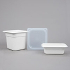 White Regular Temperature Plastic Food Pans & Lids
