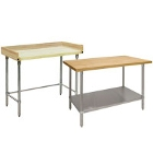 Wood Top Work Tables