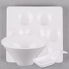World Tableware Chef's Selection II Bright White Porcelain Dinnerware