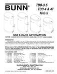 TDO-3.5 Use & Care Instructions