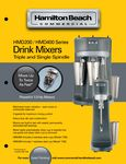 Drink Mixer Spec Sheet