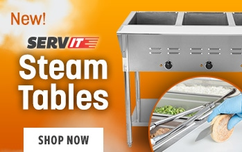 New! Servit Steam Tables