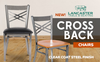 Steel Clearcoat Cross Back Chairs