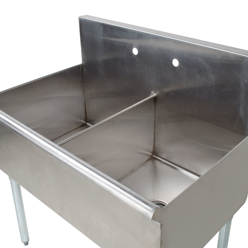 Regency 36 Quot 16 Gauge Stainless Steel Two Compartment