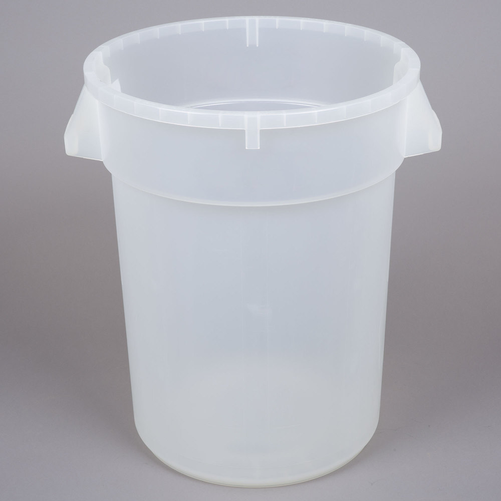 Continental 3200cl 32 Gallon Clear Trash Can