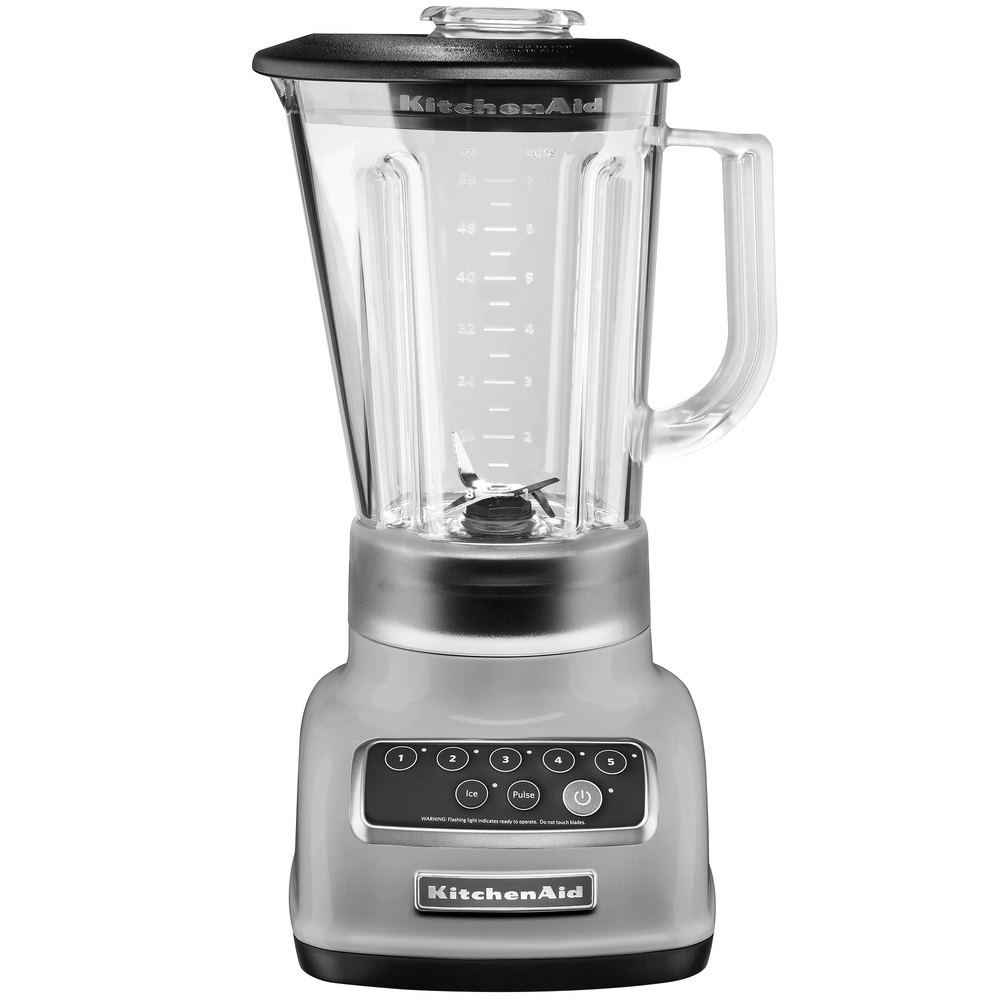 kitchenaid ksb1570sl silver 56 oz five speed blender
