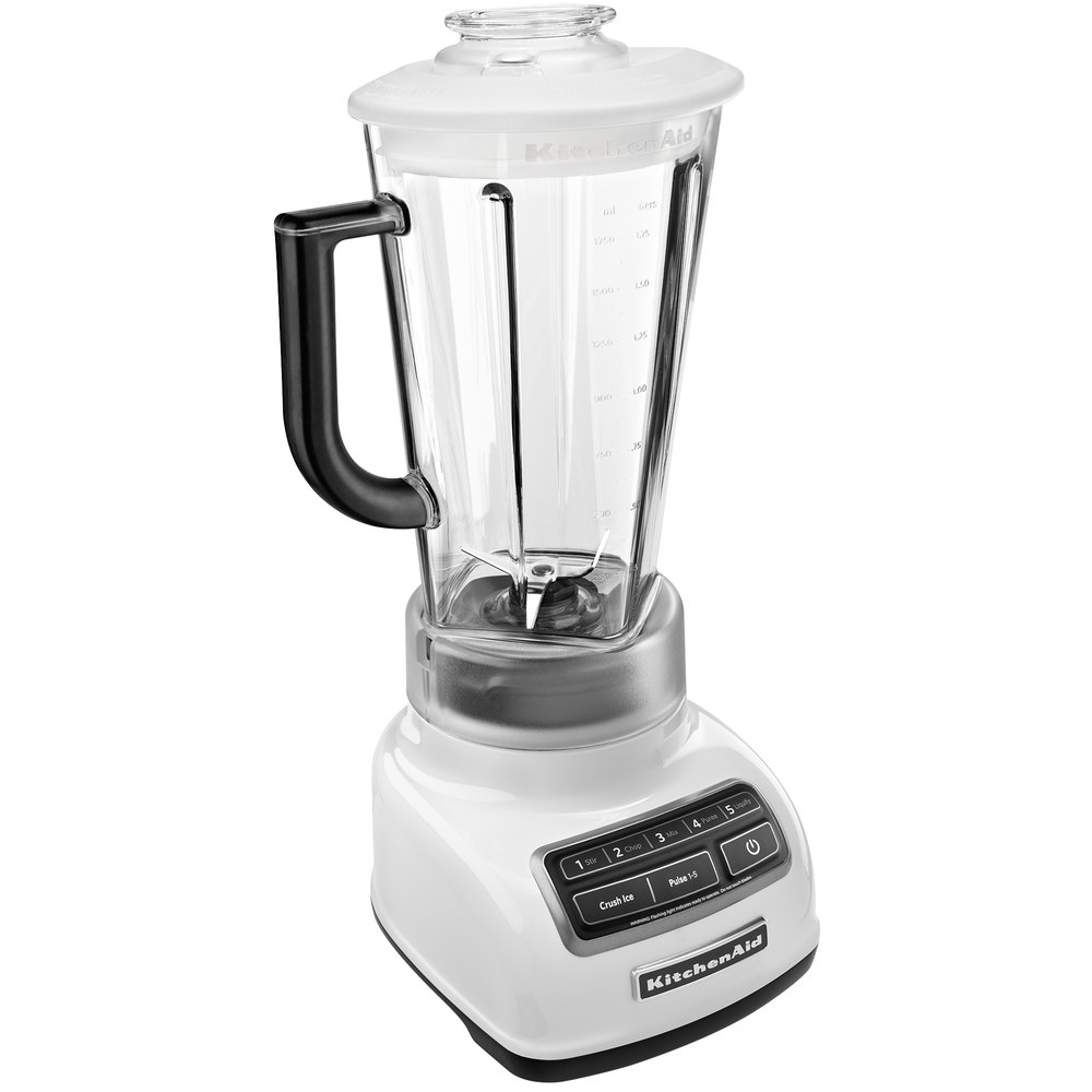 kitchenaid ksb1575wh white diamond 60 oz five speed blender. Black Bedroom Furniture Sets. Home Design Ideas