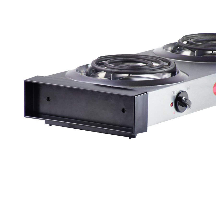 Countertop Stove Best Buy : Avantco EB102 Double Burner Countertop Range - 120V