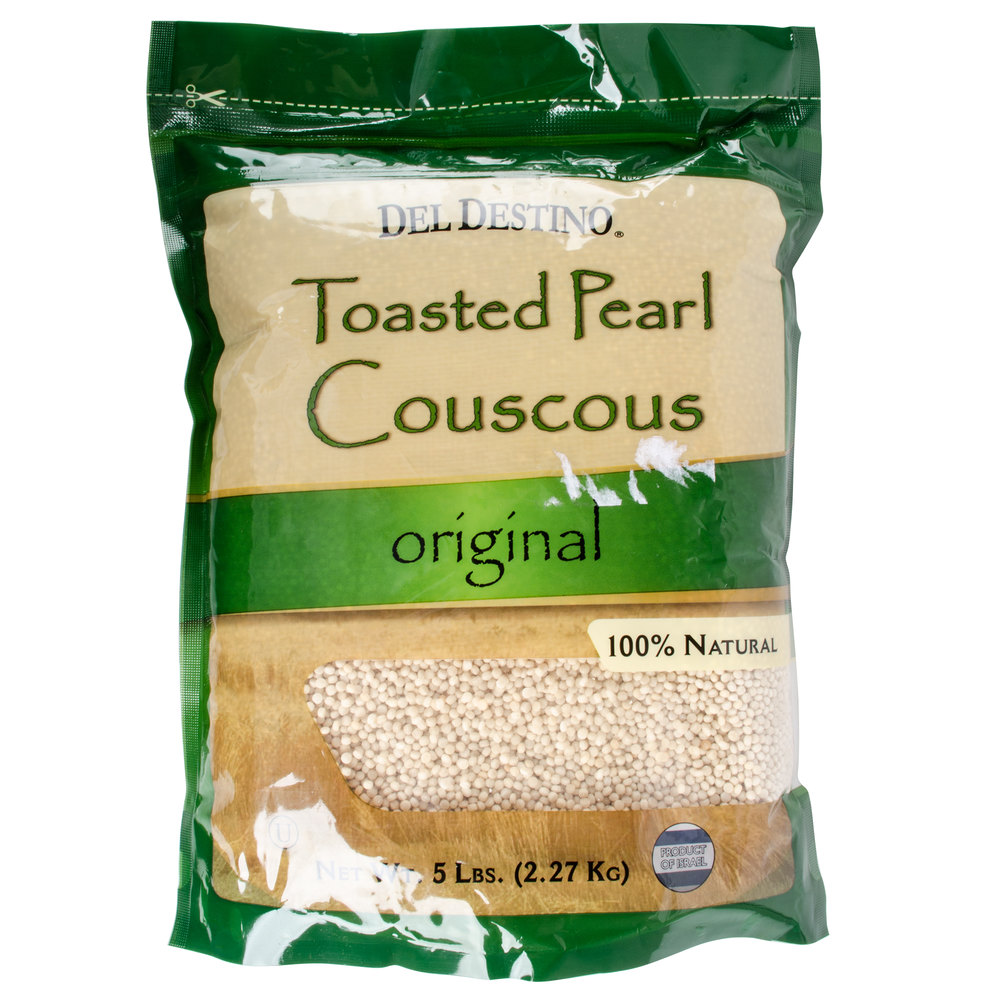 israeli toasted pearl couscous 5 lb bags 4 case
