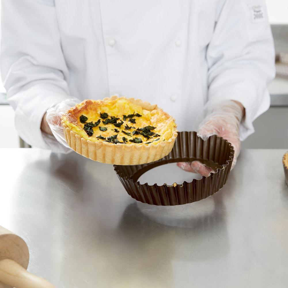 Deep tart pan with removable bottom vidéo