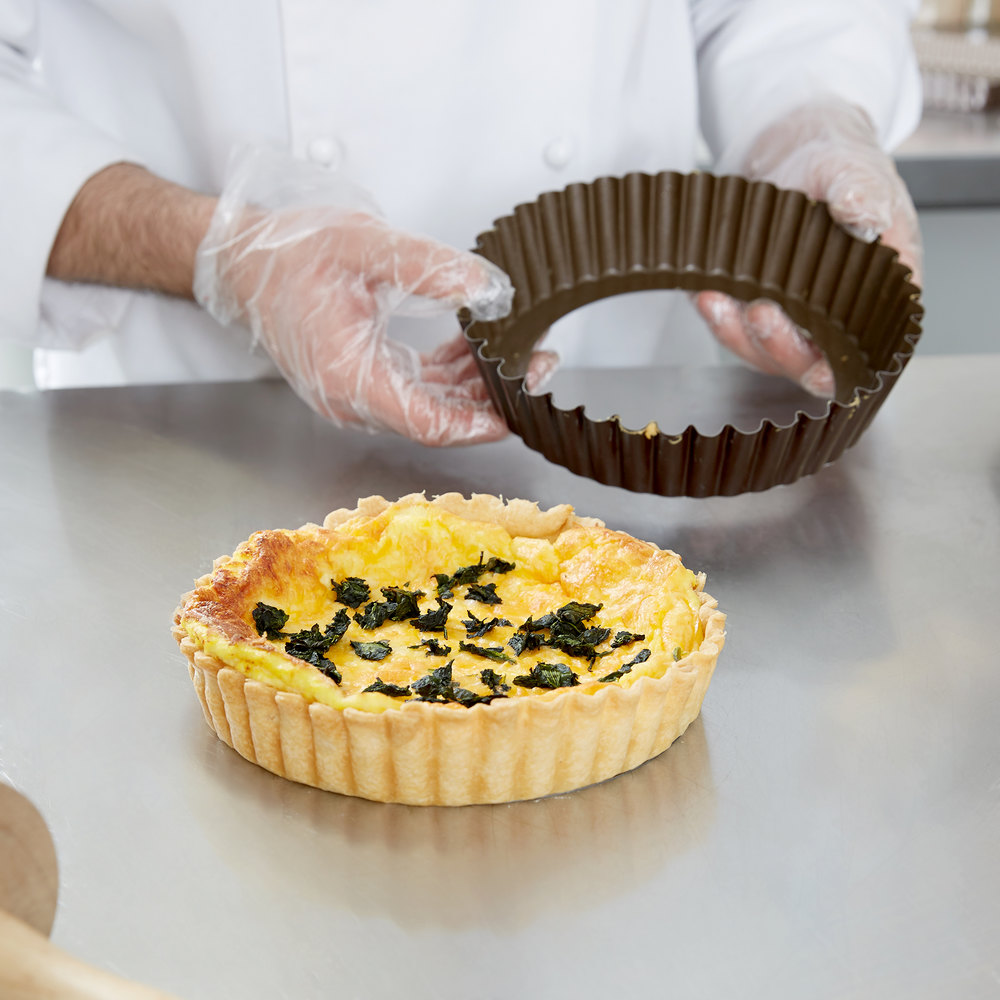 Something also deep tart pan with removable bottom are