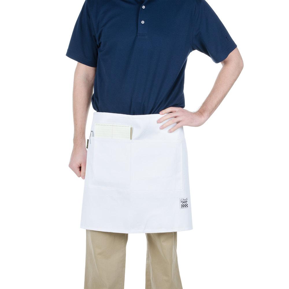 White bistro apron -  Image Preview