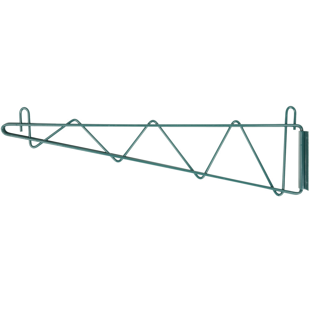 24 inch deep shelves - Regency 24 Inch Deep Wall Mounting Bracket Set For Green Epoxy Wire Shelving 2