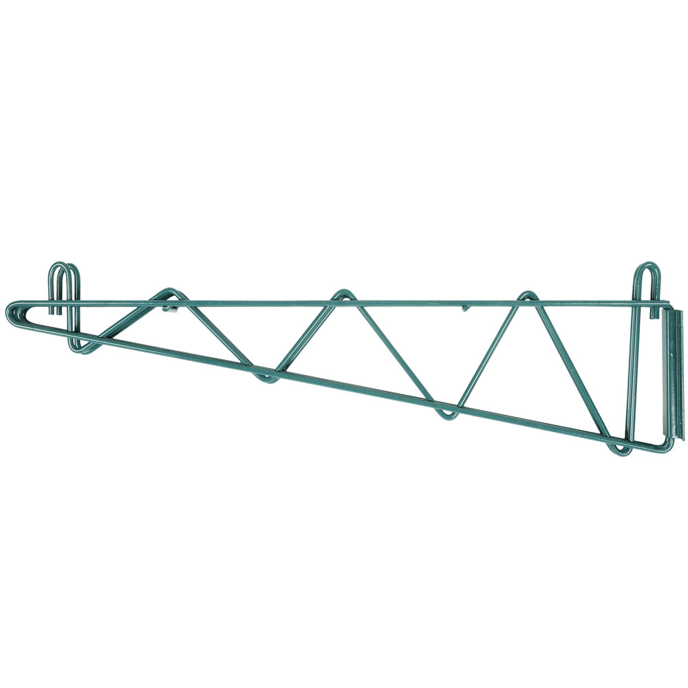 24 inch deep shelves - Regency 24 Inch Deep Double Wall Mounting Bracket For Adjoining Green Epoxy Wire Shelving