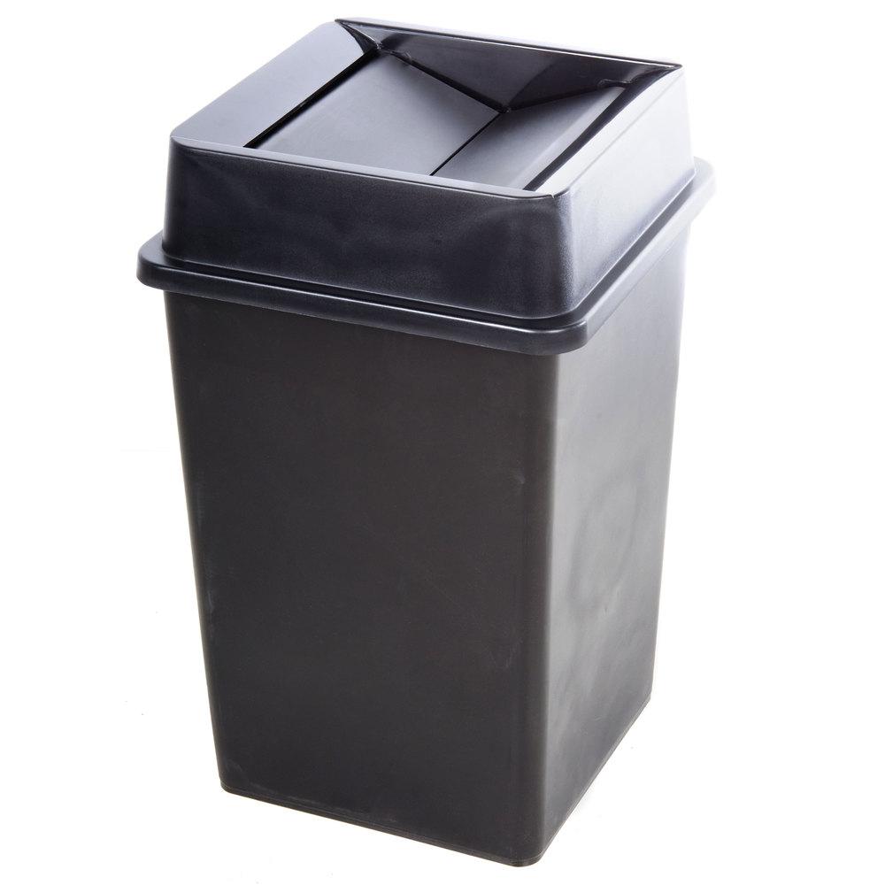 black 35 gallon square trash can lid. Black Bedroom Furniture Sets. Home Design Ideas
