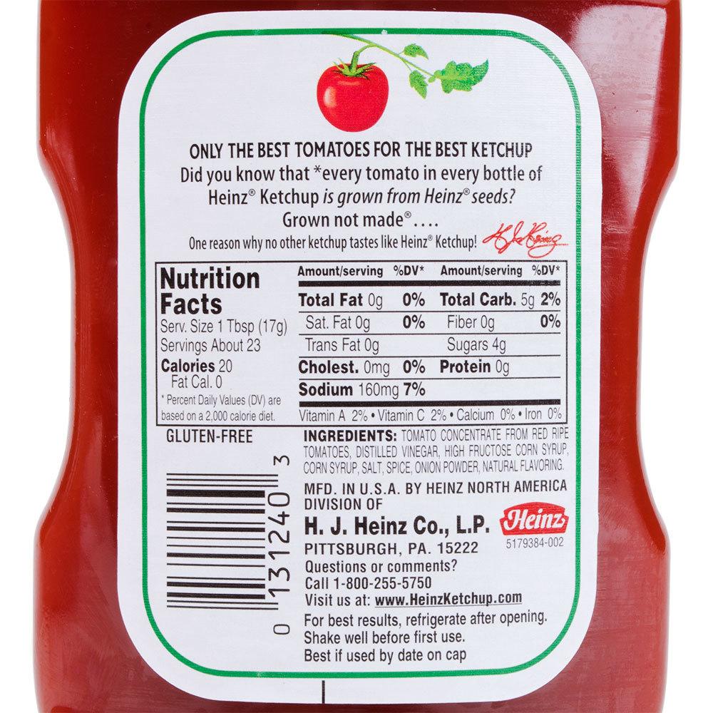 Heinz Ketchup 14 Oz Upside Down Squeeze Bottle 16 Case