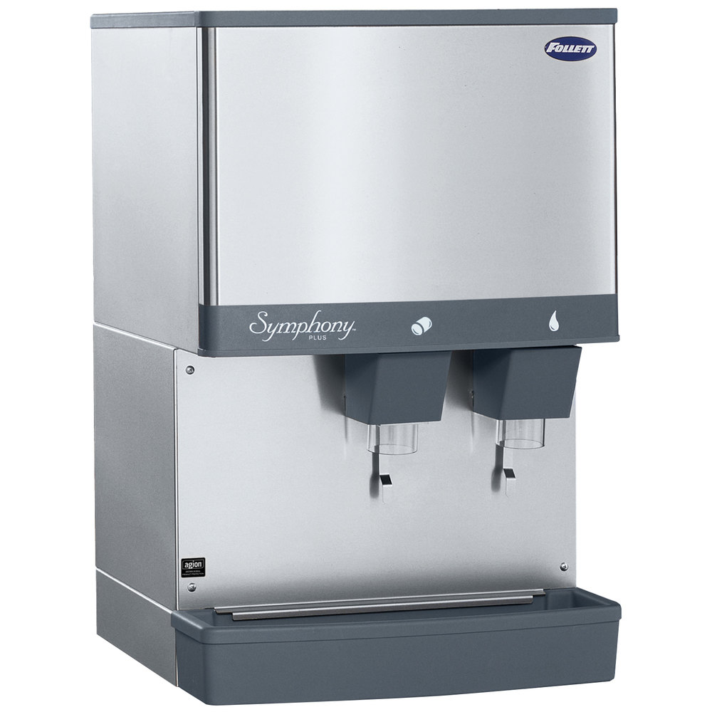 Follett 50CI425W-L Symphony Countertop Water Cooled Ice Maker and ...